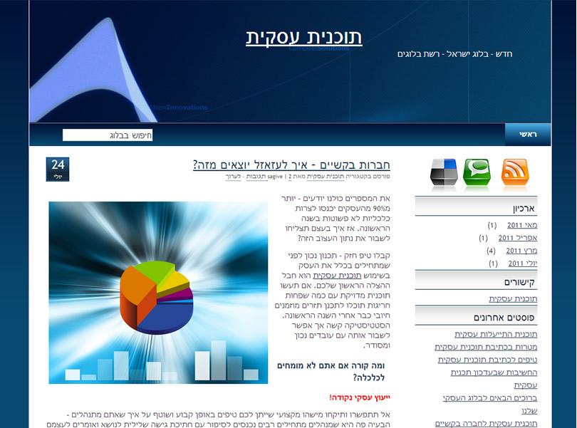 תבנית וורדפרס להורדה בחינם BusinessTrend