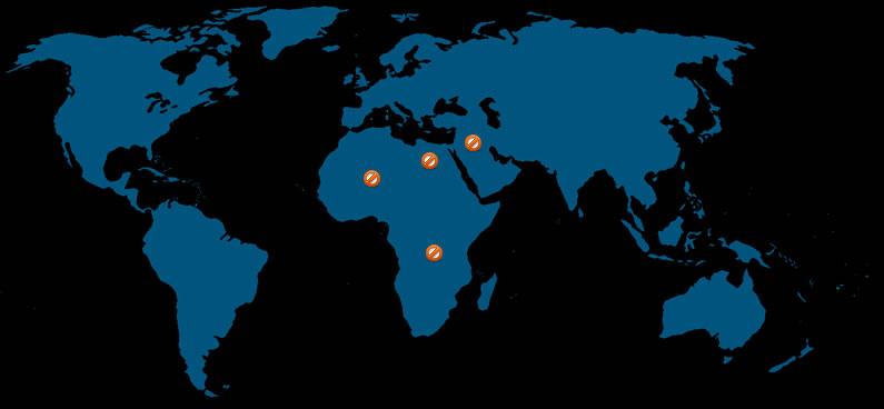 חסימת IP של מדינות שלמות