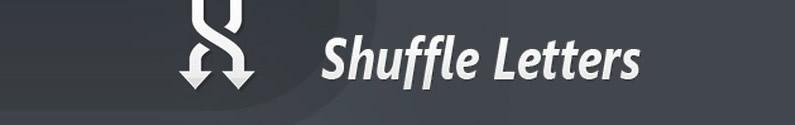 תוסף jQuery Shuffle Letters