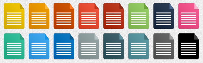 סט מסמכים בעיצוב שטוח צבעוני 020214