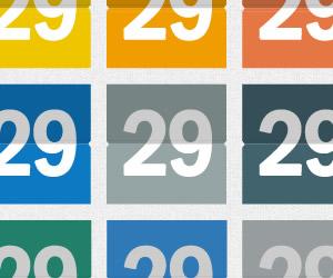 סט לוח שנה בעיצוב שטוח ......