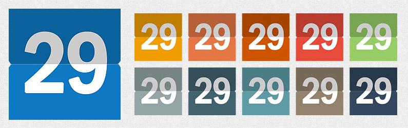 סט לוח שנה בעיצוב שטוח צבעוני 020214