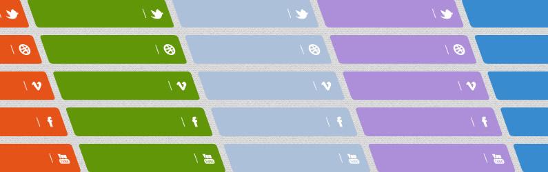 סט כפתורים חברתיים v141113