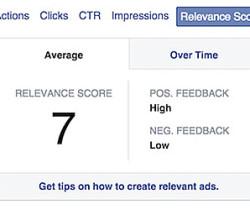 facebook relevance score ads