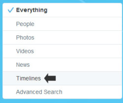 search in timeline