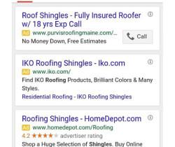 3 google ads blocks screen